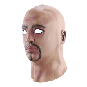 Halloween Creative réaliste Lifelike drôle homme nu-tête mascarade masque Fournitures Cosplay Costumes Parti Props Y200103