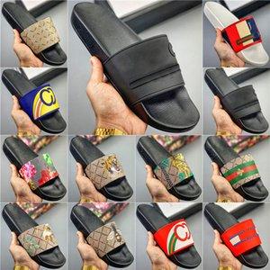 2020 Nouveau Femme Homme Chaussons Slides sandales plates Tongs Chaussures d'été Slip Fashion Designer Chaussons Beach Chaussures de Chambre 001