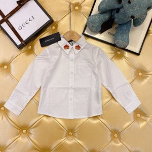 newest Boys girls Lapel Children's spring autumn breathable comfortable shirt children clothing 09