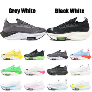 2020 Sıcak Yakınlaştırma Alphafly Sonraki% ZoomX Volt Elektrik Yeşil Pembe Beyaz Mens Kadınlar Nefes Spor Sneakers Boyutu 36-45 İçin Ayakkabı Koşu