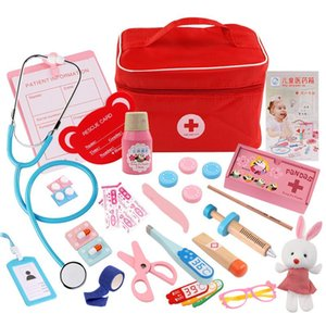 Wooden Toy Pretend Play Doctor Set Nurse Injection Medical Kit Role Play Educational Simulation Doctor Tools Kids Toys Children Gifts