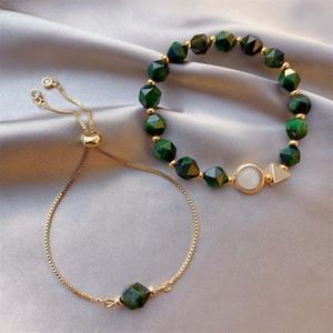 FORSEVEN regolabile pietra di gemma del braccialetto regolati per le donne ragazze Wristband compleanno Jewellry Regali catenelle braccialetto Cavigliere