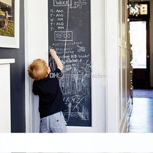 45x200cm الطباشير مجلس السبورة ملصقات الفينيل القابل للإزالة رسم ديكور جدارية الشارات الفن السبورة الجدار ملصق لغرف الأطفال أطفال