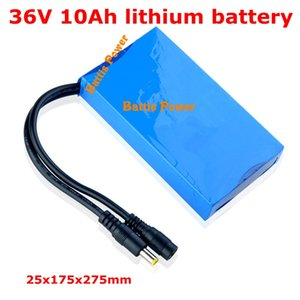 Customize size 36v 10ah lithium battery pack 15A BMS for 350w electric skateboard motor 250w 500w scooter + Charger