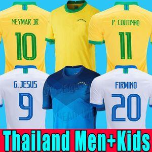 Футболка BRAZIL 2020 Футболка BRAZIL PAQUETA NERES COUTINHO Футболка FIRMINO JESUS MARCELO 2021 maillot de foot