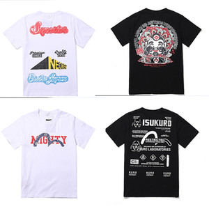 NUOVI Mens di marca delle magliette dello stilista Nero Grigio Bianco Mens Fashion Stylist fumetto stampa unica T-shirt donna Top di base maniche corte M-XXL