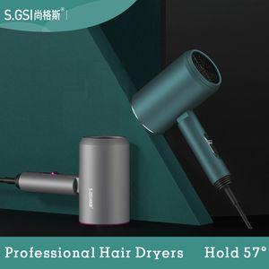 Asciugacapelli 57 ° temperatura costante salone professionale Asciugacapelli Hot Cold negativo Colpo ionico dei capelli elettrici blowdryer