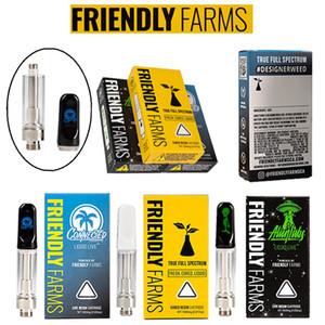 Оптовая Friendly Farm картриджи 0,8 мл Керамическая Dab Pen густое масло Электронные сигареты Комплекты Атомайзеры 510 темы Vape Pen восковые испарителем Телеги