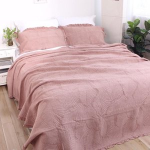 Quality Bedspreads For Bed Cotton Quilt Set 3pcs Embossed Quilts Lace Decor Bed Cover King Queen Size Quilted Coverlet Blanket