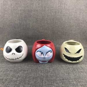 Le cauchemar avant Noël Jack Skellington Sally Oogie Boogie Grande capacité Céramique Ceramique Coupe d'eau Collection Cadeau Cadeaux LJ200821