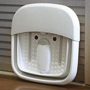 접는 마사지 발 목욕 장치 자동 세척 족탕 전기 난방 가정용 온도 조절기 버블 발 배럴