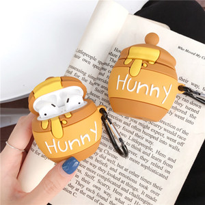 AirPods1 2 case wireless bluetooth headset protective cover is suitable for AirPods pro case cute silicone anti-drop cartoon honey pot