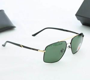 2020 mens rayos de sol gafas de sol de moda para mujer cuadrado redondo gafas polarizadas las lentes de vidrio con protección UV prohibiciones de la caja del cuero 65das05ec #