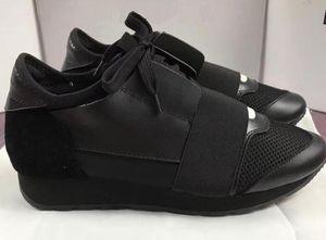 Мода Мужчина Женщина Повседневной обуви роскошь дизайнер кроссовки из натуральной кожи сетки заостренного Race Runner обуви на открытом воздух Тренеры US5-12L30
