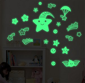 1 Pc Creative Star World Moon Luminous Fluorescent PVC Glow In Dark Wall Stickers Mural Decal Christmas Decorations For Home
