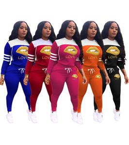 Les femmes plus la taille 2pcs fixé Tenues 3XL Pulls Survêtements Automne Hiver Vêtements Sweat-shirts Pull Legging Collants survêtements DHL 3665