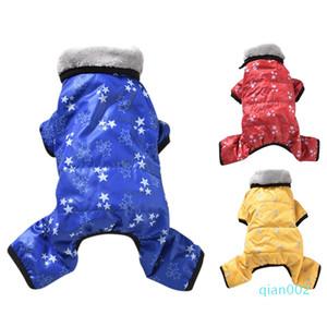 Chaud Pet hiver Down Jacket Dog vêtements coupe-vent Salopette Puppy Dog Thicken Jumpsuit parka Outfit