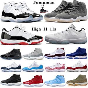 Keychain Jumpman Hoch 11 11s basketabll Schuhe gezüchtet Konsonanz 45 Gamma blau Männer Frauen athletische Turnschuhe niedrige Legende blau weiß weinrot Trainer