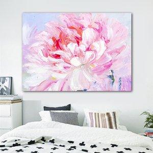 RELIABLI SANAT Pembe Çiçek Posterler Ve Baskılar Soyut Tuval Salon Dekoratif Resimler Frameless İçin Duvar Resim Sanatı