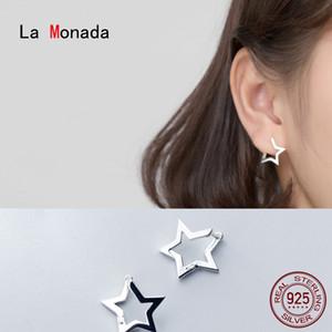 La Monada Star Hoop Earrings For Women Silver 925 Fine Women Earrings Jewelry Minimalist Hoop Earrings 925 Sterling Silver Women
