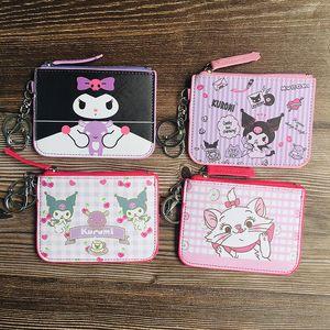 Cartoon Kuromi Wallet Keychain Man Key Chain Bag Women Purse Key Ring Chain for Pants Kid High Quality Holder Fashion Brelok