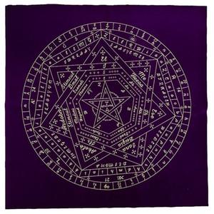 Tarot Masa Örtüsü Altar Tarot Bezi Çeşitleri Styles Siyah Altar Pentagram Retro Tablecloth Yılbaşı Hediyeleri Kart
