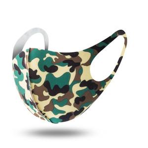 Antipolvere Maschere viso Camouflage Protezione Vento Ghiaccio cotone di seta Bocca lavabile traspirante Cyling protettivo biciclette Mask Dhb272