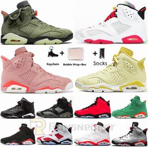 Nike Air Jordan Nueva Hare infrarrojos Travis Scotts Negro 6 6s zapatos de baloncesto del Mens Negro Gato UNC 3s Cemento Negro Rojo Animal Instinct 2 zapatillas deportivas