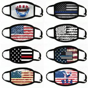 Отсутствие Маска Американские Избирательные Поставки пылезащитной Печати маска Универсальных для мужчин Женщина американского флага маски партии маски # 210