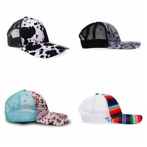 Baseball Caps Leopard Print Color Striped Net Hats Cotton Trucker Cap Duck Tongue Sun Hat Sport Hip Hop Party Hat Outdoor Cap YYC2251