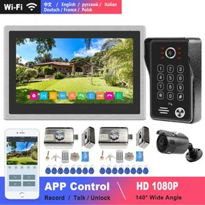 Wifi Intercom IP Video Intercom for Home10 inch Touch Screen 1080P Doorbell Camera Electric Lock Home Access Control System Kits