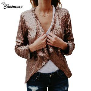 Autumnwinter Kadınlar Payet Coat Bombacı Ceket ince Uzun Kollu Fermuar Streetwear Ceket Preppy Gevşek Casual Temel Coat