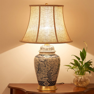 China Antique Living Room Vintage Table Lamp Porcelain Ceramic Table Lamp wedding decoration vase table lamp