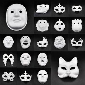 Маски DIY бумага Masquerade маска Halloween Party Cosplay мультфильм Маска Карнавал Бал лицо Женщина Carnaval Masque Prop OWF654
