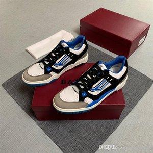 2020 hombres de moda zapatillas de deporte corrientes del cuero atan para arriba las zapatillas de deporte de la plataforma de diseño zapatos de moda casual zapatos de fútbol de los hombres de lujo