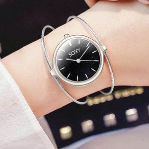 Soxy Bracelet de luxe Femmes Montres Starry Sky Montre Femme 2020 Simple Casual en acier inoxydable petit cadran Mesh Bracelet Quartz