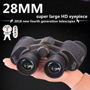 Super große Okular HD Big Binoculars leistungsstarke Binocular Metall FMC Green Film Long Range Zoom Reise Teleskop njUW #
