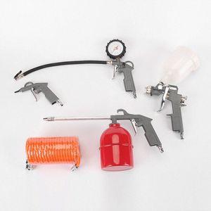 هوائي مجموعة أداة ضاغط الهواء مجموعة أدوات المرآب محفظة 5pcs عبده #