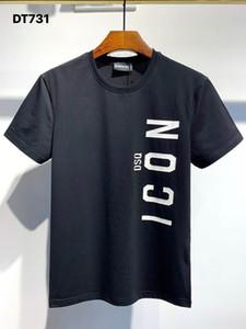 Camiseta del diseñador camisa de la manera DSQ FANTASMA TORTUGA 2020FW nuevo Mens Italia Patrón camisetas verano DSQ camiseta masculina de calidad superior 100% algodón Top 7546