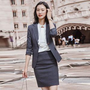 Uptil FZA2Q terno temperamento primavera das mulheres e no Outono frente vestido de mangas compridas fã deusa High-end ol vestido Formal Suit Hotel fash