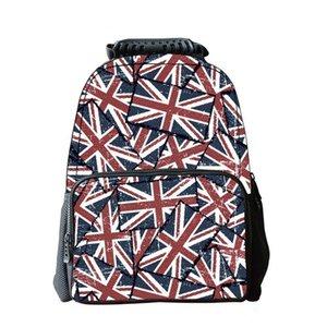 National Style Backpacks Flag Pattern Preppy Style Teenage School Bag College High School Rucksack Portable Youth Bagpack 2020