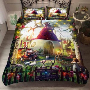 BEST.WENSD Christmas gifts Bedding Set luxury 2 3pcs Family Set (Duvet Cover + Pillow Case) Single Kid Twin Full Queen King Size