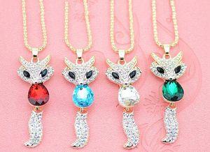 Ожерелье кулон Модные аксессуары Fur Fox длинное ожерелье свитер цепи ожерелье для женщин