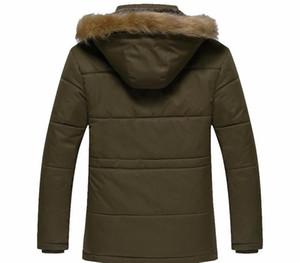 Cotton Black Jacket Men Parka Fur Hood Winter Coat Mens Warm Zipper Thick Jackets 5XL Casual Down Parkas For Men66