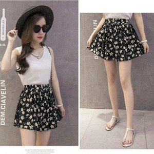 Spring Summer Shorts Women Classic Vintage White Black High Waist Shorts plus size Harajuku Korean Style Sweet Ladies