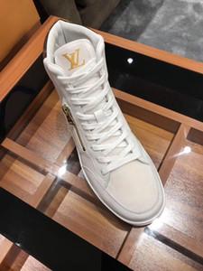 Alta versão, Nova listagem dos homens respirável sapatos casuais Moda Mens sapatos, personalidade Zipper decoração Mens alta Top Sport Casual sapatos 0054