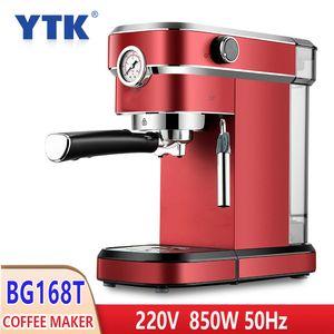 Haushalt 220V 850W Halbautomatische Kaffeemaschine Ltalian Blase Cappuccino-Milch-Maschinen amerikanischer Espresso