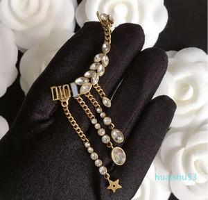 Hot Sale Ears of wheat, eyes of horse, wings, inlaid with diamonds, tassel, ear clip, earpin, female necklace, bracele