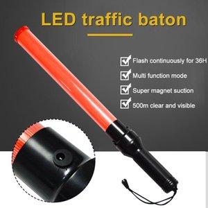 LED Trafik 54cm Glow El Emniyet Işık Çubuk Wand Flaş Uyarı Göstergesi LED Trafik