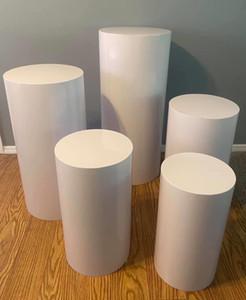 Pilares rodada Cilindro Pedestal exibição Art Decor Rodapé para DIY casamento Decorações do feriado T200827